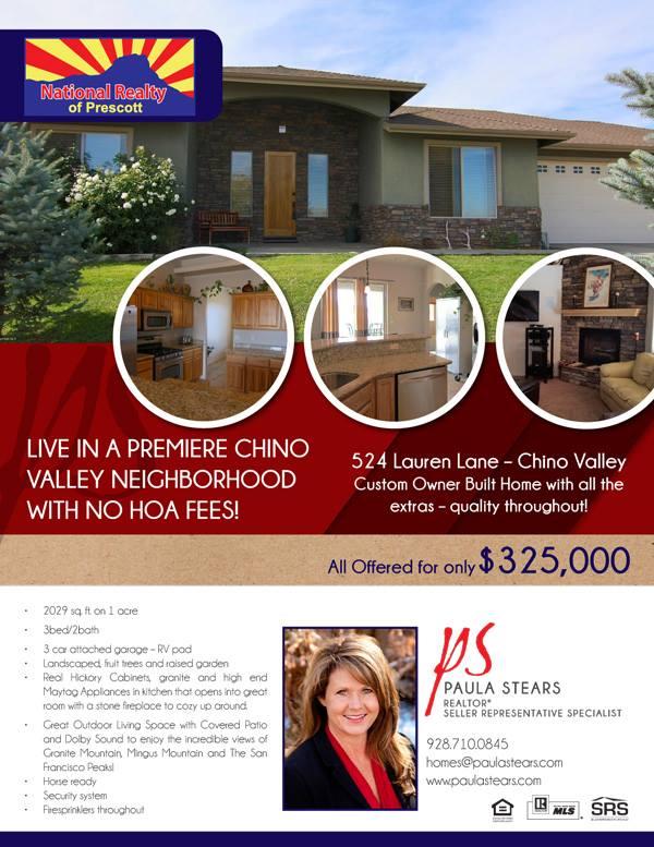 Paula Stears Real Estate Flyer